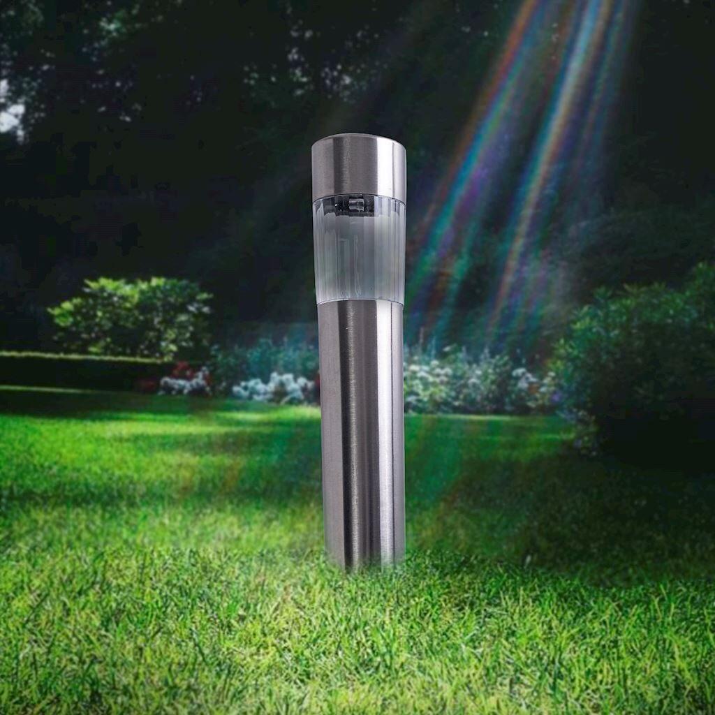 6x Lampa Ogrodowa LED SOLARNA POLUX CARLOS SG301S MINI TUBA Inox