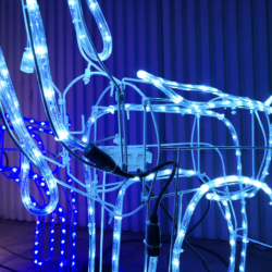 Stojący renifer LED 120 cm wysokości XXL -