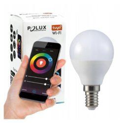 Żarówka LED KULKA G45 E14 5,5W 470lm POLUX 2700K-6500K RGB Smart WiFi TUYA