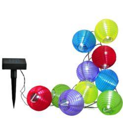 Girlanda Solarna Lampki LED 10szt Kolorowe Kule Polux